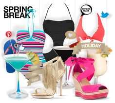 Spring break #holiday outfit #swimwear #cocktails shopthemagazine.com