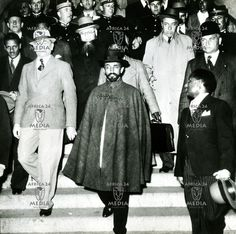 Haile Selassie appears at the League of nations in 1936 to protest against the Italian invasion of Ethiopia.