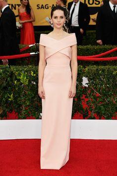 Felicity Jones in Balenciaga   - HarpersBAZAAR.com