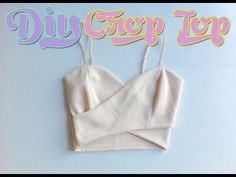 DIY Nasty Gal Wrap Crop Top (Sewing) From Tank Top / Body Suit - YouTube