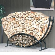 DIY firewood rack ideas will help you to keep the piles of firewood dry so you can enjoy bonfires in your back yard. Find and save ideas about firewood rack in this article. Outdoor Firewood Rack, Firewood Logs, Firewood Holder, Firewood Storage, Firewood Stand, Buy Firewood, Log Carrier, Log Holder, Log Home Decorating