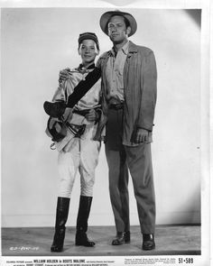 BOOTS MALONE (1952) William Holden & Johnny Stewart - Directed by William Dieterle - Columbia.