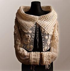 Crochet Pattern / Ecru Cardigan