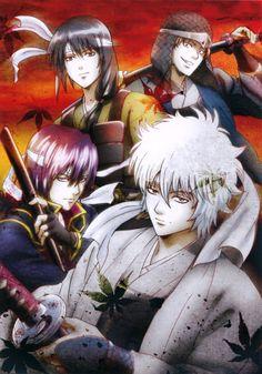 Gin Tama, Sakamoto Tatsuma, Katsura Kotaro, Takasugi Shinsuke, Sakata Gintoki