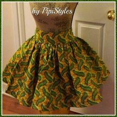 African print mini skirt...