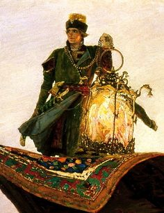 Viktor Vasnetsov The Flying Carpet (with detail), 1880, oil on...