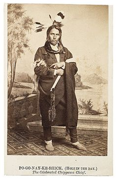 Po-Go-Nay-Ge-Shick II (aka Hole In The Day II, aka Gwiiwizenz, aka Little Boy) - Ojibwa - 1864 {Note: Hole In The Day II was the son of Hole In The Day I and Josephine, (who was the daughter of Broken Tooth)