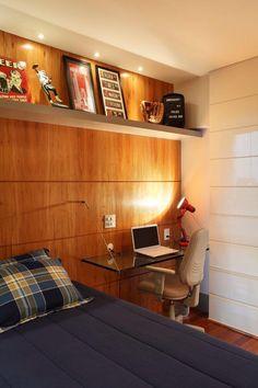 Apartamento Barra da Tijuca (Condomínio Santa Mônica Jardins) / Eliane Fiuza #bedroom #homeoffice