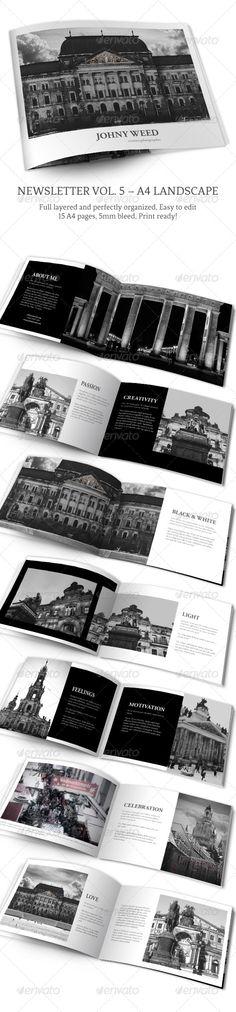 Photo Album vol. 5 – Landscape InDesign Template