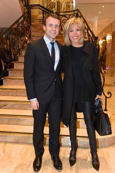Emmanuel Macron et sa femme Brigitte à Paris le 9 janvier 2016