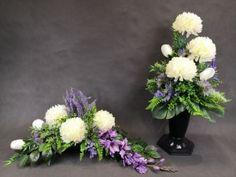 Grave Decorations, Ikebana, Diy Flowers, Cos, Flower Arrangements, Floral Wreath, Wreaths, Plants, Flowers
