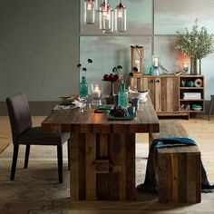 Emmerson™ Reclaimed Wood Dining Table  Have had this pinned on my fridge for months....hmmm