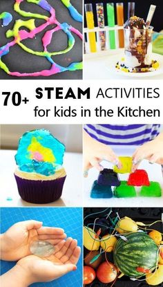 Kitchen STEAM activities for kids: science tech math engineering art. - Kids education and learning acts Steam Activities, Indoor Activities For Kids, Kids Learning Activities, Science Activities, Science Projects, Science Experiments, Kinesthetic Learning, Stem Projects, Time Activities