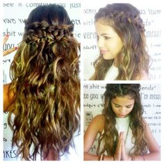 braid half up half down hair