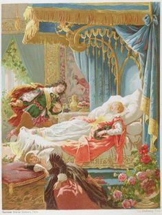 Wall mural of Sleeping Beauty and Prince Charming