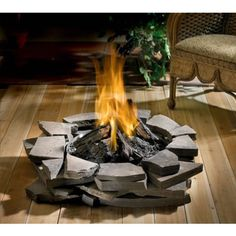 Patioflame Natural Gas Burner and Log SetThe Patioflame burner & log set delivers comfort and design by creating a perfect outdoor extension to your home. It easily sets up on your patio or wooden deck surface. Enjoy the warmth...enjoy the outdoors.    All stainless steel construction, maximum weather resistant  Easy installation  60,000 BTU's  Includes flexible hose connector and shut off valve  5 piece patented GLOCAST log set  Create your own ...