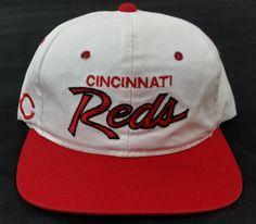 Cincinnati Reds Vintage Snapback Sport Specialties Script Hat MLB Rare Cap Twill