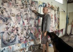 Large multiple head piece with assistant who thinks its time for a walk. #fineart #paintings #fashion #contemporaryart #workinprogress #process #expressive #creative #inspiration #artoftheday #picoftheday #artistoninstagram #dogs #germanshepherd http://ift.tt/2es9akz