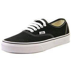 Vans Authentic Women Sneakers ($40) ❤ liked on Polyvore featuring shoes, sneakers, black, vans sneakers, canvas sneakers, kohl shoes, black canvas shoes and vans footwear