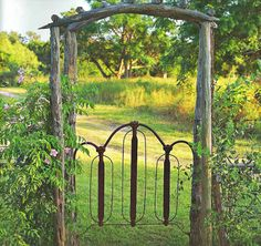If you had a property & wanted to separate the house garden from the rest, an old iron gate would work perfectly.