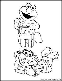 Print Elmo Coloring Pages Crain Parsons