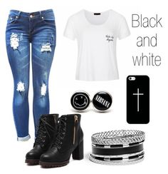 """""""Black and white"""" by motavator17 on Polyvore featuring Ally Fashion, GUESS and Casetify"""