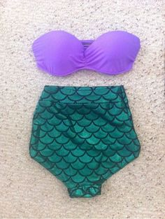 The Little Mermaid Swimsuit Set Little Mermaid Swimsuit, Mermaid Bikini, The Little Mermaid, Ariel Swimsuit, Mermaid Suit, Mermaid Style, Mermaid Beach, Mermaid Mermaid, Mermaid Wedding
