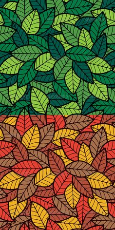 Buy Leafs Seamless Pattern by Malchev on GraphicRiver. No transparency and gradients used. AI, CDR, EPS and JPEG files. Mandala Art Lesson, Doodle Art Designs, Leaf Drawing, Madhubani Painting, Indian Art Paintings, Pattern Art, Nature Pattern, Colorful Wallpaper, Beautiful Wallpaper