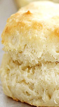 Flaky, Fluffy Southern Buttermilk Biscuits ❊ This is basically the recipe I've ever used.