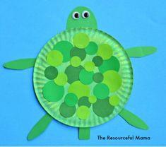 20 Zoo Animal Crafts Preschoolers Will Love Ocean Crafts, Vbs Crafts, Daycare Crafts, Preschool Crafts, Arts And Crafts, Sea Turtle Crafts, Ocean Animal Crafts, Toddler Art, Toddler Crafts