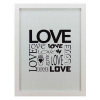 Quadro Modern Love Preto & Branco - Col. Exclusiva