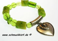 Armband mit Herz. Ein tolles Geschenk für die Freundin. von www.Schmuckkistl.de auf DaWanda