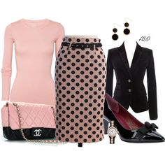 Pink and Black, created by amy-phelps on Polyvore
