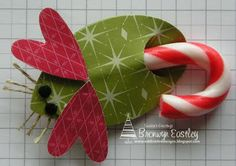 candy cane mice from paper & punches