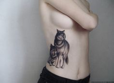 """wolveswolves: """"First session of my wolf tattoo, done by the absolutely amazing Claudia at Classic Ink & Mods """""""
