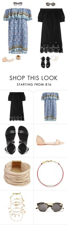 """""""Untitled #2550"""" by audrey-balt on Polyvore featuring Iris & Ink, Loeffler Randall, Saachi, Redline, Accessorize, Illesteva and Gucci"""