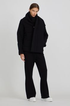 Antu Cashmere Puff Shawl in Black Cashmere Jacket, Cashmere Shawl, Normcore, Autumn, Wool, Luxury, Winter, Jackets, Shopping