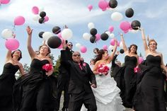 Balloons in ur wedding picture