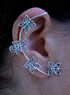 Elf Cuff - Butterfly - Silver, Elf Ears, Renaissance – Hair Twisters