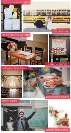 Back to School wedding ideas