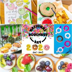 We are celebrating National Doughnut Day 2020 with all new recipes, crafts, and free downloads! Free Downloads, Doughnut, New Recipes, Birthday Cake, Celebrities, Party, Desserts, Crafts, Food