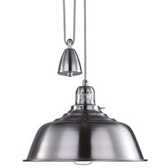 c2619750097 Buy the Fisherman Rise and Fall Pendant Light in Satin Chrome at Litecraft