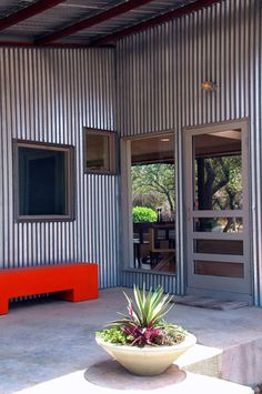 Metal siding - modern exterior by Nick Deaver Architect Metal Building Homes, Metal Homes, Building A House, Modern Exterior, Exterior Design, Steel Siding, Quonset Hut, Barndominium Floor Plans, Corrugated Metal