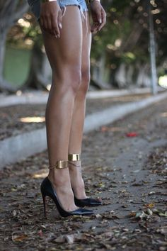 Ankle Cuffs from Lace by Tanaya