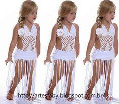 Crochet Lingerie, Crochet Romper, Crochet Bikini Pattern, Crochet Baby Clothes, Cute Little Girl Dresses, Little Girl Outfits, Little Girl Fashion, Kids Fashion, Baby Swimsuit