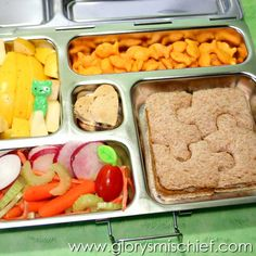 Puzzle Planetbox Lunch -- Great Back To School Lunch Ideas.
