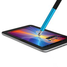 USA 1x Fine Point Round Thin Tip Capacitive Stylus Pen for ipod iphone Sky Blue