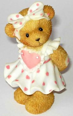 Heidi´s Cherished Teddies Galerie: Girl With Card Figurine - It's No Surprise How Much I Love You (114044)