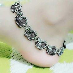 Silver Lining - Buy Anklets for Women, Online Anklet Shopping in India Toe Ring Designs, Anklet Designs, Necklace Designs, Payal Designs Silver, Silver Anklets Designs, Coin Pendant Necklace, Nameplate Necklace, Necklace Holder, Gold Necklace