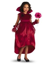 Girls Costumes - Red Rose Vampire Girl Costume includes a blood red high waist dress with a red satin skirt and chiffon over skirt, a velvet bodice and a detachable red satin stand up collar with red rose details. Vampire Costumes, Vampire Girls, Red High, Satin Skirt, Red Satin, Girl Costumes, Red Roses, Bodice, Chiffon